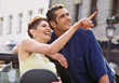 expression happiness recreation young people point stock photo