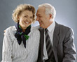 Retiring old poses people couples elder mature stock image