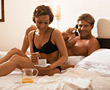 breakfast indoors people couples lifestyles stock photo