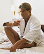 mature wellness male leisure men beauty stock photo