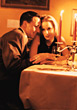 sitting social hospitality romantic cafe couple stock photo