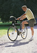 Biking old mountain leisure adult people race stock photo