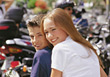 girls teen boys teenagers children kids stock photo