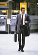 Men men people business onthego stock photo