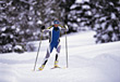 skiing crosscountry male sport people skier stock image