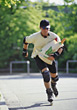 skate holding buy cap bag male stock photo