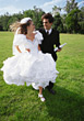 married weddings bride marriage groom running stock photography