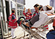 response medical accident gourney rescue healthcare stock photo