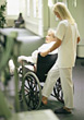 Hospital professionals old caregiver people elder patients stock photo