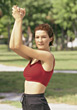 weight fitness sports exercise people stretching stock photo