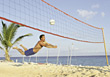 serve beaches volleyball outdoor sport athlete stock image