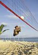 sand exercising volleyball fitness male sports stock image