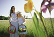mothers daughter parent spring people mom stock photo