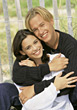expression affection hug hugging happiness teeth stock photography