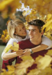 autumn fall people young couples stock photo