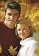 expression autumn happy fall couple happiness stock image