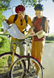 recreation young people bike vacation biking stock image