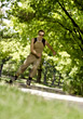 Inline exercising speed fitness rollerblading male exercise stock photography