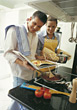 cook couple kitchen chefs cooking people stock photography