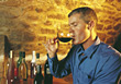 wine male adults leisure taste people stock image