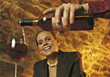 wine female woman pour glass adults stock image
