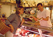buy butcher people coldcuts female fresh stock image