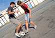 ball teen male sport leisure game stock photography