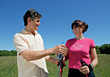 walking mature outdoor active people couples stock image