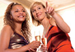 ethnic champagne diverse celebrations happiness adult stock photo