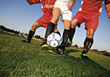 kicking ball shoot sport dribbling soccer stock photography