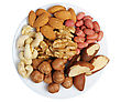 Peanuts, Cashews, Almonds, Walnuts, Brazil Nuts And Hazelnuts stock image