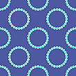 Pearl Necklake Seamless Patttern On Blue. Natural Bjoutetie Background