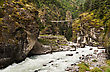 Pendant Bridge On The Way From Lukla To Namche Bazar In Himalaya, Nepal stock image