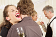 People At A Party Laughing stock photo