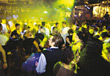 People Dancing at Nightclub stock photo