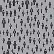 People Icon Seamless Pattern Isolated On Grey Background. Symbol Of Persons