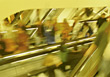 People On Escalator stock image