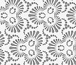 Perforated Flourish Tear Drops Trefoils And Dots.Seamless Geometric Background. Modern Monochrome 3D Texture. Pattern With Realistic Shadow And Cut Out Of Paper Effect