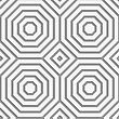 Perforated Striped Octagons Forming Squares.Seamless Geometric Background. Modern Monochrome 3D Texture. Pattern With Realistic Shadow And Cut Out Of Paper Effect