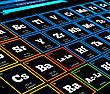 Periodic Table Of Elements. Vector Close Up Illustration