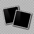 Photo Frames Isolated On Checkered Background. Checkered Pattern