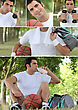Photo-montage Of A Basket-ball Player stock photography