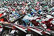 PHUKET, THAILAND - NOVEMBER 20: Many Motorbikikes At The Parking Near Big Store On November, 20, 2010, Phuket, Thailand. Motorbike Is A Most Popular Transport In Thailand stock photography