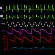 Physiologic Monitor, Abstract Background Illustration