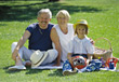 Picnic with Grandparents stock image