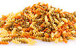 Pile Of Colorful Pasta On White Background