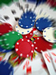 Pile Of Gambling Chips - Blur stock image