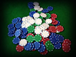Pile Of Poker Chips stock image