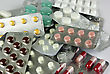 Pills, Medicals, Drugs, Tablets In Different Colors, Packed stock photo