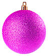 Pink Christmas Ball On White Background stock photography
